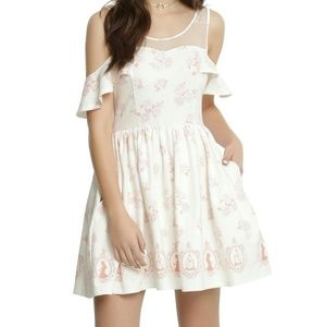 NWT Beauty & The Beast Cold Shoulder Dresd